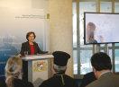 Staatsministerin Emilia Müller während ihres Grußwortes zu Beginn der Integrationskonferenz