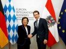 Ministerin Müller mit Außenminister Kurz